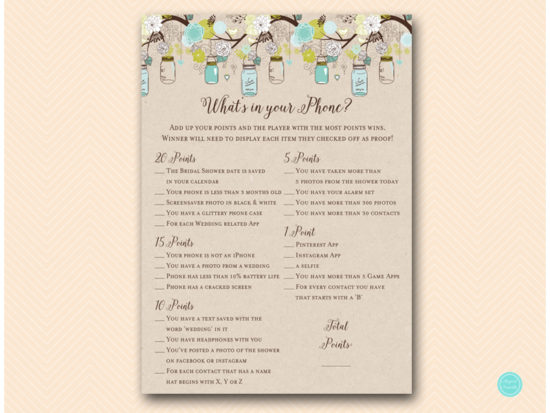 bs48-whats-in-your-phone-teal-mason-jars-bridal-shower-hen-party
