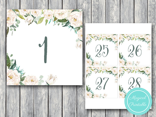 ivory-white-flower-wedding-table-numbers-printable