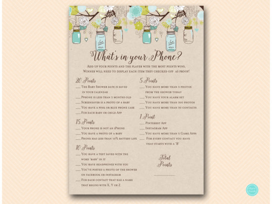 tlc48-whats-in-your-phone-baby-mason-jars-baby-shower-game