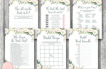 white-floral-garden-bridal-shower-games-package