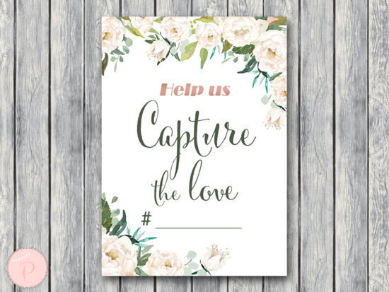ivory-bridal-shower-capture-the-love-hashtag-sign