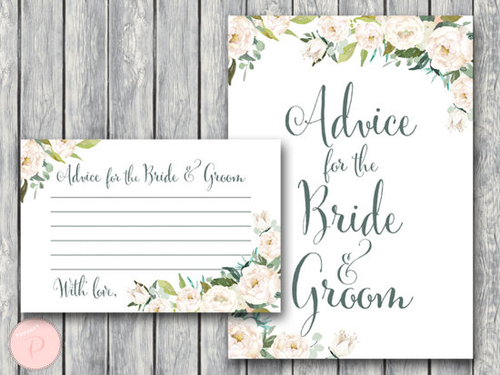 ivory-floral-wedding-advice-for-bride-groom-sign-ivory-wedding