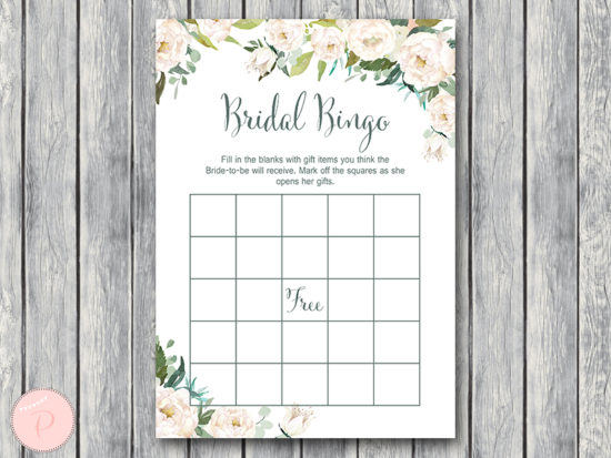 ivory-flower-wedding-shower-bingo-game