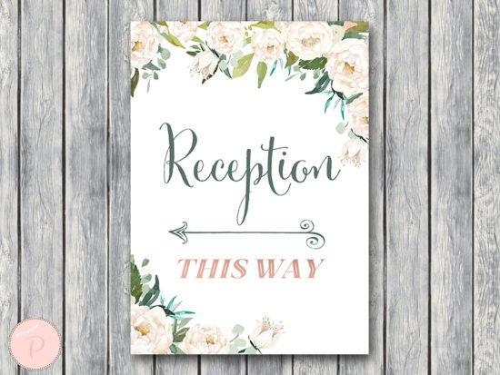 ivory-wedding-reception-direction-sign