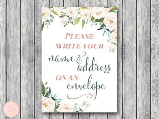 ivory-wedding-table-sign-address-on-envelope