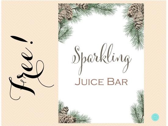 Free Sparkling Juice Bar Sign Printabell Express