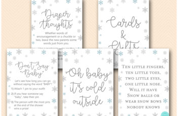 tlc491-winter-snowflake-baby-shower-games-and-signs-baby-its-cold-outside