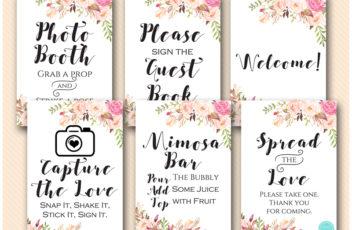 boho-floral-bridal-shower-wedding-decoration-signages