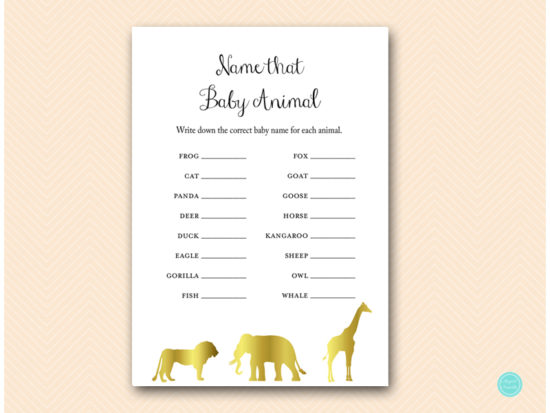 tlc452-animal-baby-names-gold-jungle-baby-shower-games