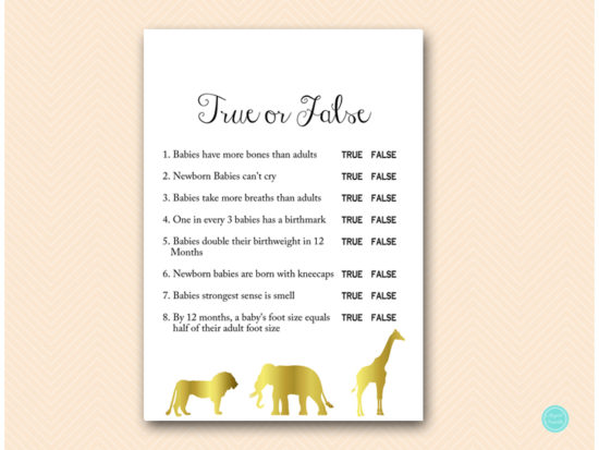 tlc452-true-or-false-quiz-gold-jungle-baby-shower-games
