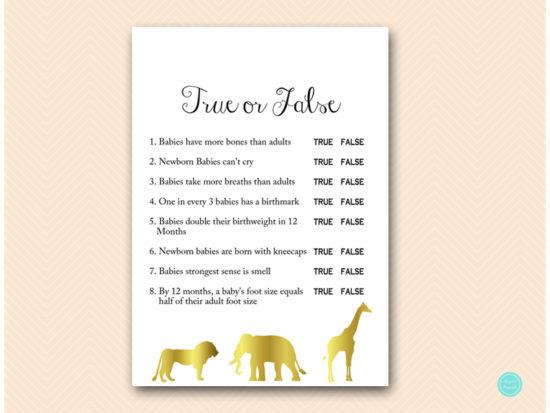 tlc452-true-or-false-quiz-gold-jungle-baby-shower-games