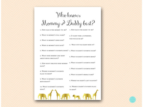 tlc452-who-knows-daddy-mommy-best-gold-jungle-baby-shower-games