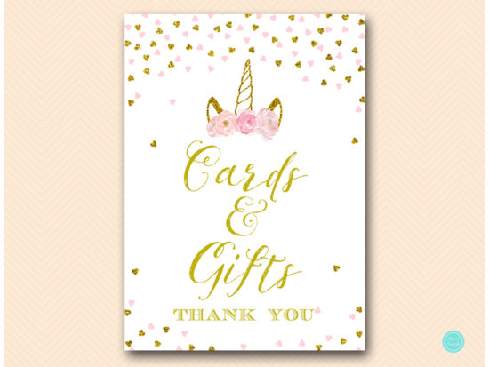 Pink And Gold Unicorn Baby Shower Signs Printabell Express