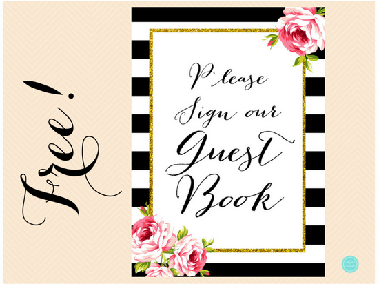 free-black-stripes-guestbook-sign