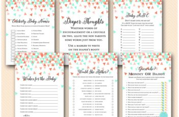 mint-coral-geometric-baby-shower-game-download-printable