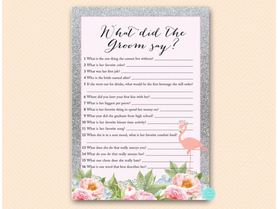 bs130s-what-did-groom-say-silver-flamingo-bridal-shower-game