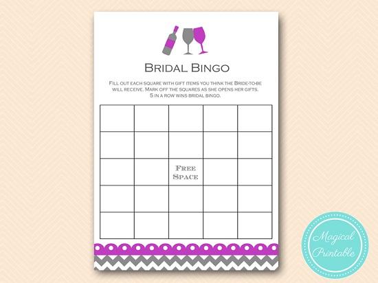 bs146 bingo bridal gifts purple wine bridal shower