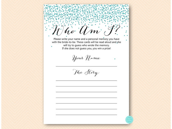 bs472t-who-am-i-favorite-memory-teal-glitter-bridal-shower-game