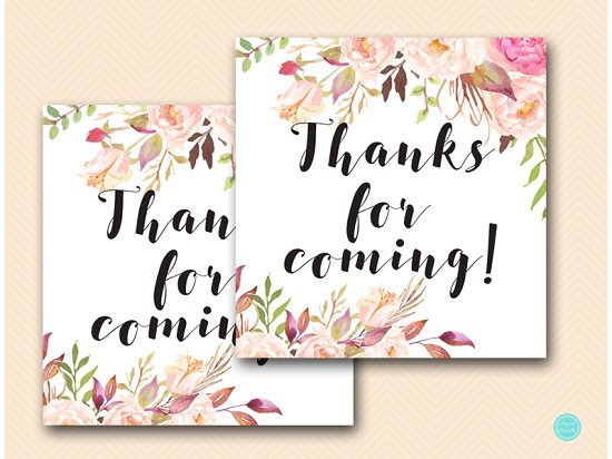 Boho Floral Thank You Tags | Printabell • Express