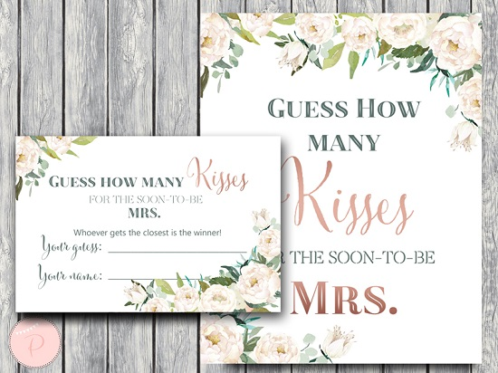 Handy image in how many kisses for the soon to be mrs free printable