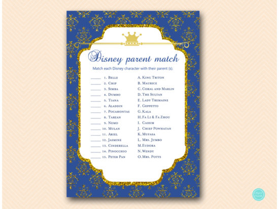 tlc109-disney-parent-match-navy-royal-prince-baby-shower-game