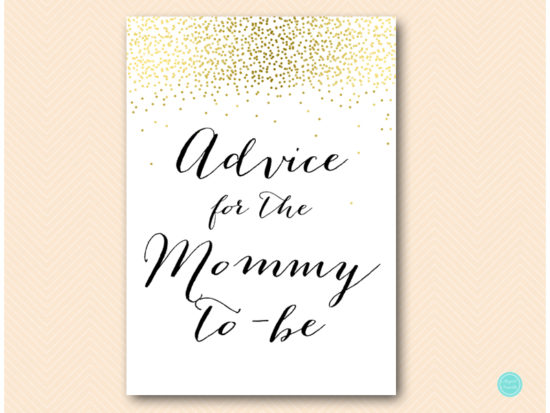 tlc472-advice-for-mommy-sign-5x7-gold-baby-shower-game