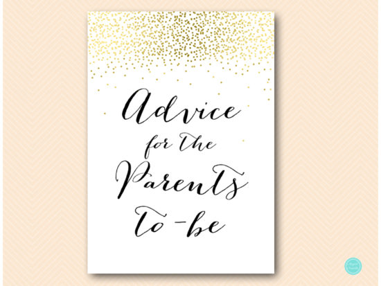 tlc472-advice-for-parents-card-sign-gold-baby-shower-activities
