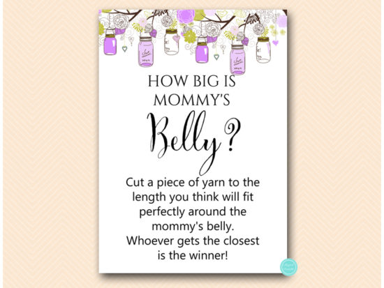 tlc475-how-big-is-mommys-belly-purple-mason-jar-baby-shower-game