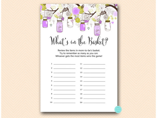 tlc475-whats-in-basket-purple-mason-jar-baby-shower-game
