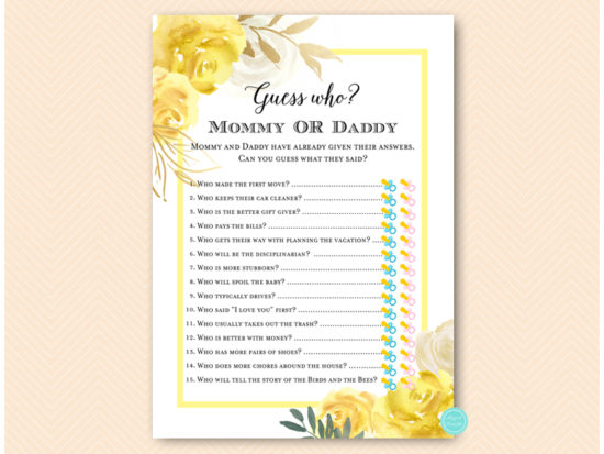 tlc574-guess-who-mommy-or-daddy-yellow-floral-baby-shower-game-gender-neutral