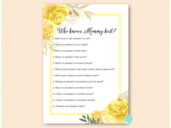 tlc574-who-knows-mommy-best-yellow-floral-baby-shower-game-gender-neutral