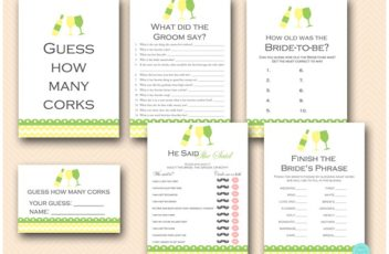 green-yellow-wine-bridal-shower-games-wine-bachelorette-party-games
