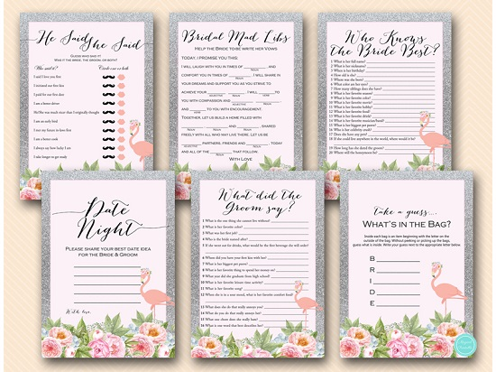 silver-flamingo-bridal-shower-game-package-download