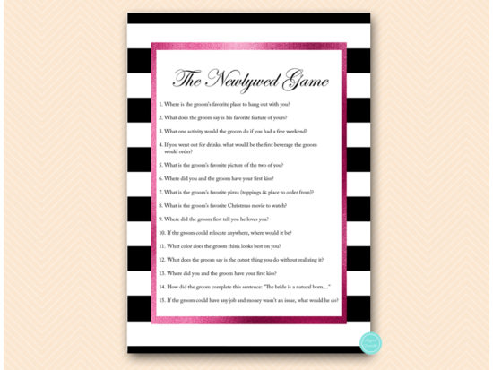 bs500-newlywed-game-hot-pink-and-black-stripes-baby-shower-bachelorette