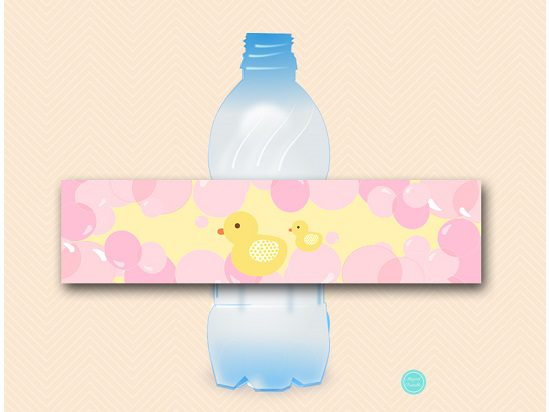 sn575-water-bottle-label-pink-rubber-duck-baby-shower-decor5