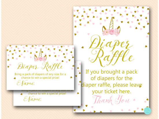 tlc556-diaper-raffle-sign-pink-gold-unicorn-baby-shower-game