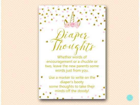 tlc556-diaper-thoughts-pink-gold-unicorn-baby-shower-game