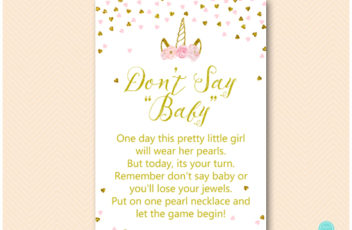 tlc556-dont-say-baby-necklace-pink-gold-unicorn-baby-shower-game