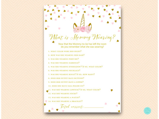 tlc556-what-was-mommy-wearing-pink-gold-unicorn-baby-shower-game