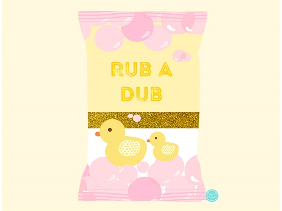 photo relating to Rubber Ducky Printable named Red Rubber Duck Mini Chip Bag H2o Bottle Printable