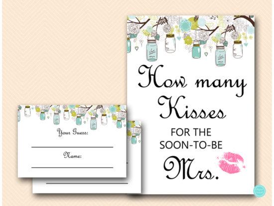 bs40-how-many-kisses-soon-mrs-teal-mason-jars-bridal-shower-games