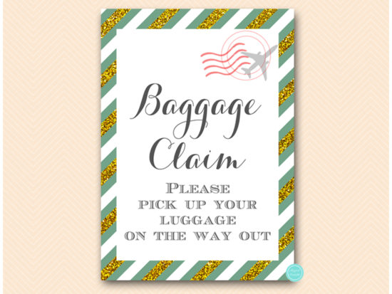 bs484g-sign-baggage-green-gold-travel-themed-sign