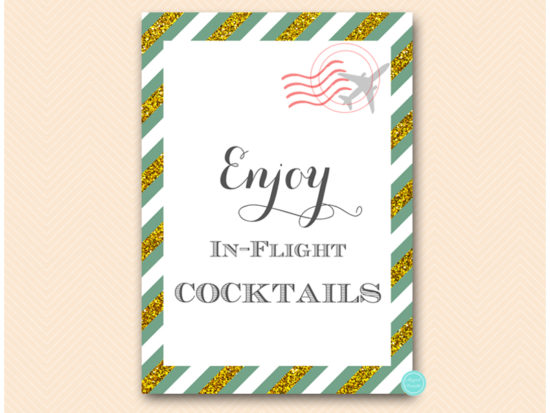 bs484g-sign-cocktail-green-gold-travel-themed-sign