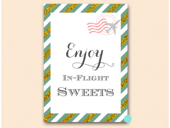 bs484g-sign-inflight-sweets-green-gold-travel-themed-sign