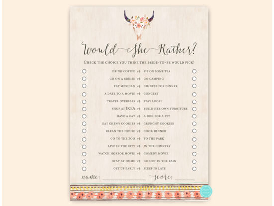 bs566a-would-she-rather-tribal-boho-bridal-shower-game