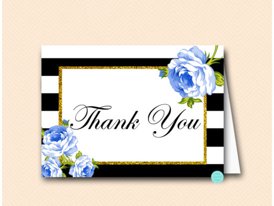 sn162-thank-you-card-folding-blue-floral-baby-shower-games