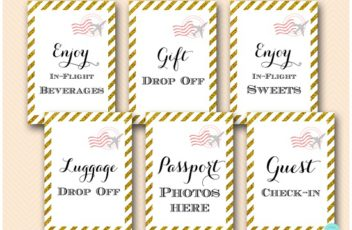 gold-stripes-travel-themed-bridal-shower-baby-signs5