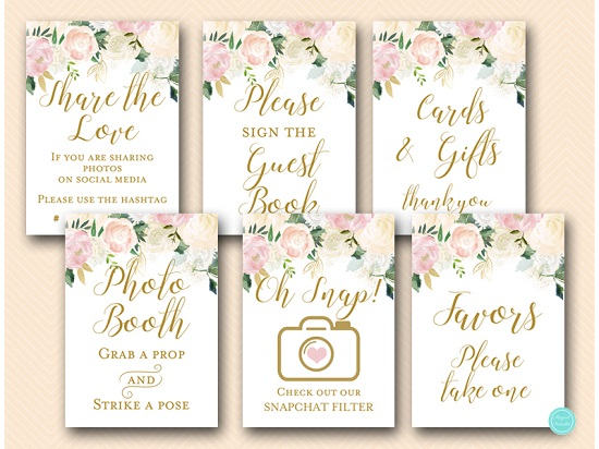 pink-blush-floral-bridal-shower-wedding-decoration-table-signs5