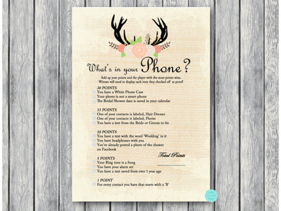 bs41-whats-in-your-phone-antler-bridal-shower-game
