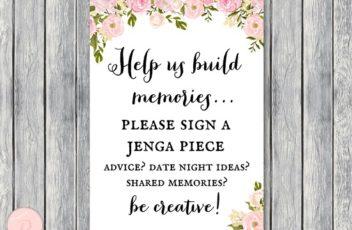 th13-build-memories-sign-jenga-piece-pink-peonies-bridal-shower-wedding